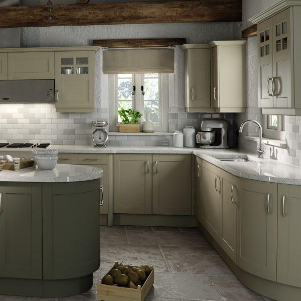 Olive Grey Kitchen: Contemporary Kitchens