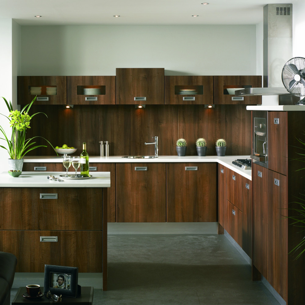 Duleek letterbox dark walnut kitchens direct ni for Kitchens direct