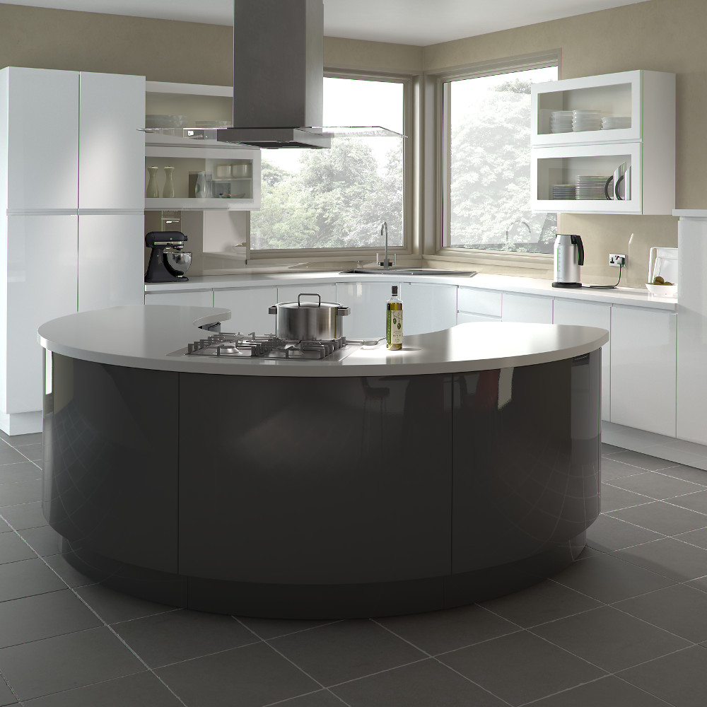 Gallo gloss white and anthracite kitchens direct ni for Kitchens direct