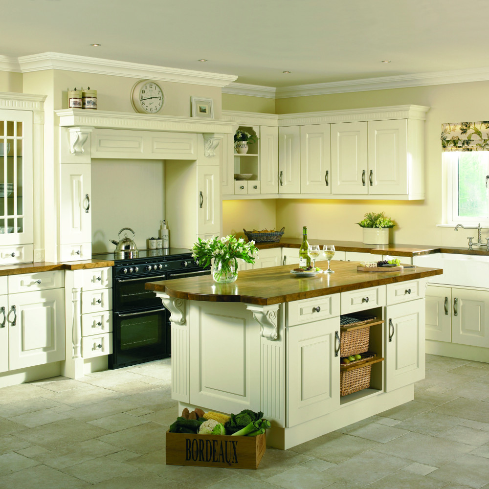 Praque ivory kitchens direct ni for Traditional kitchens ireland