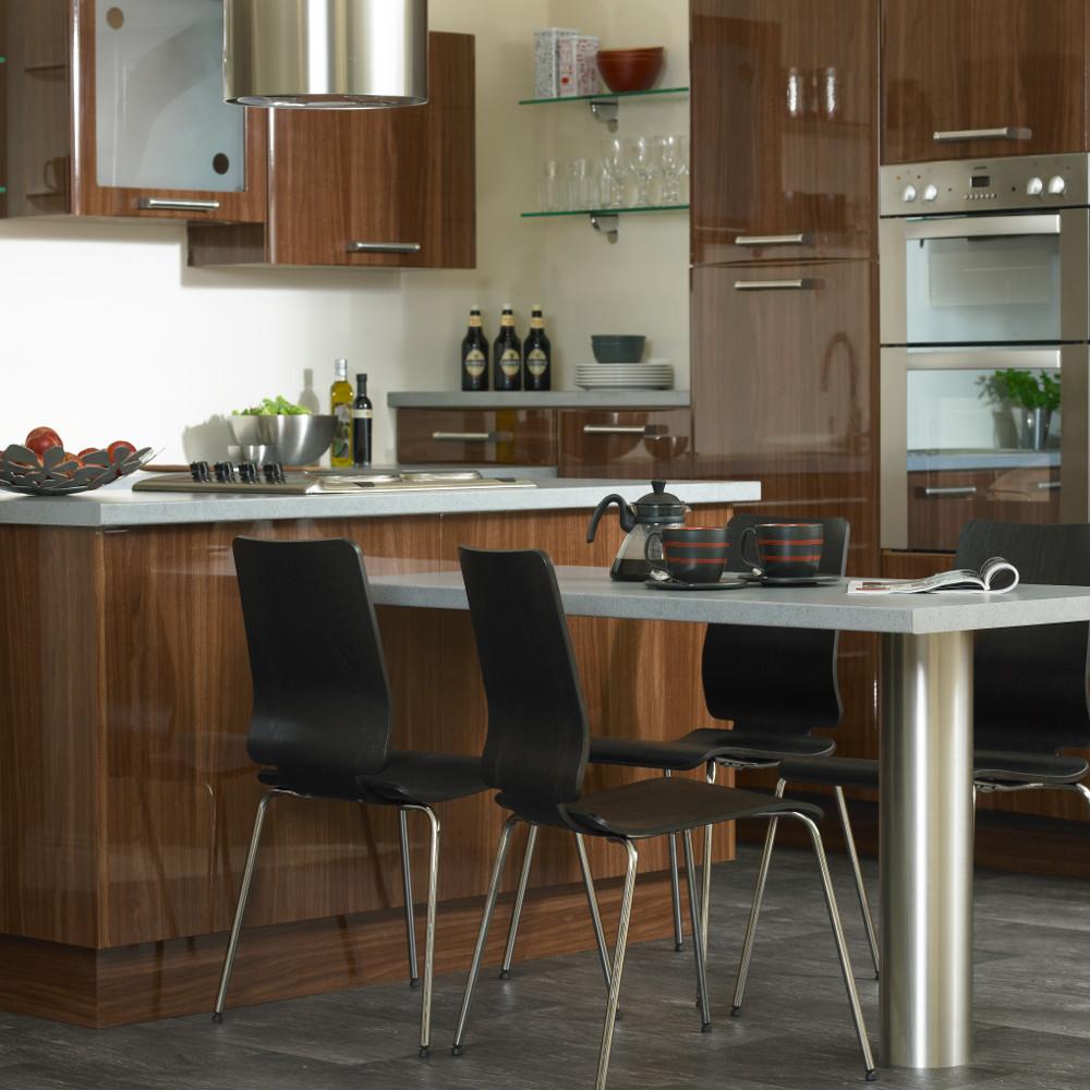 Mona gloss walnut kitchens direct ni for Kitchens direct