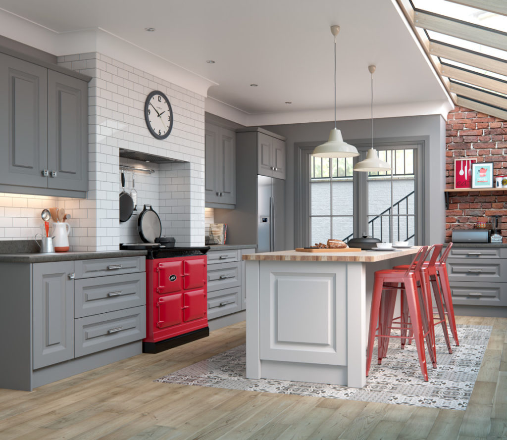 Danbury dust grey light grey kitchens direct ni for Traditional kitchens ireland