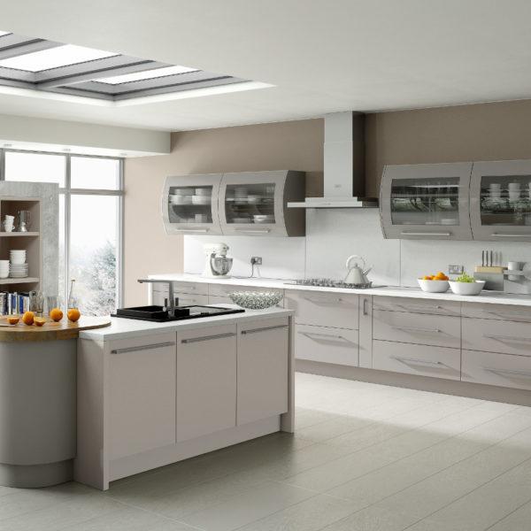 Duleek matt kashmir stone grey kitchens direct ni for Kitchens direct