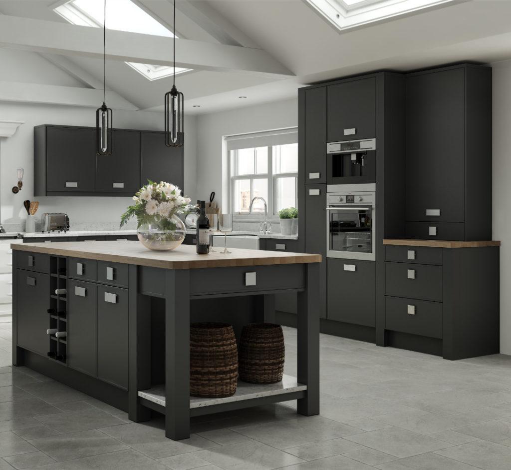 Vilo graphite kitchens direct ni for Kitchens direct