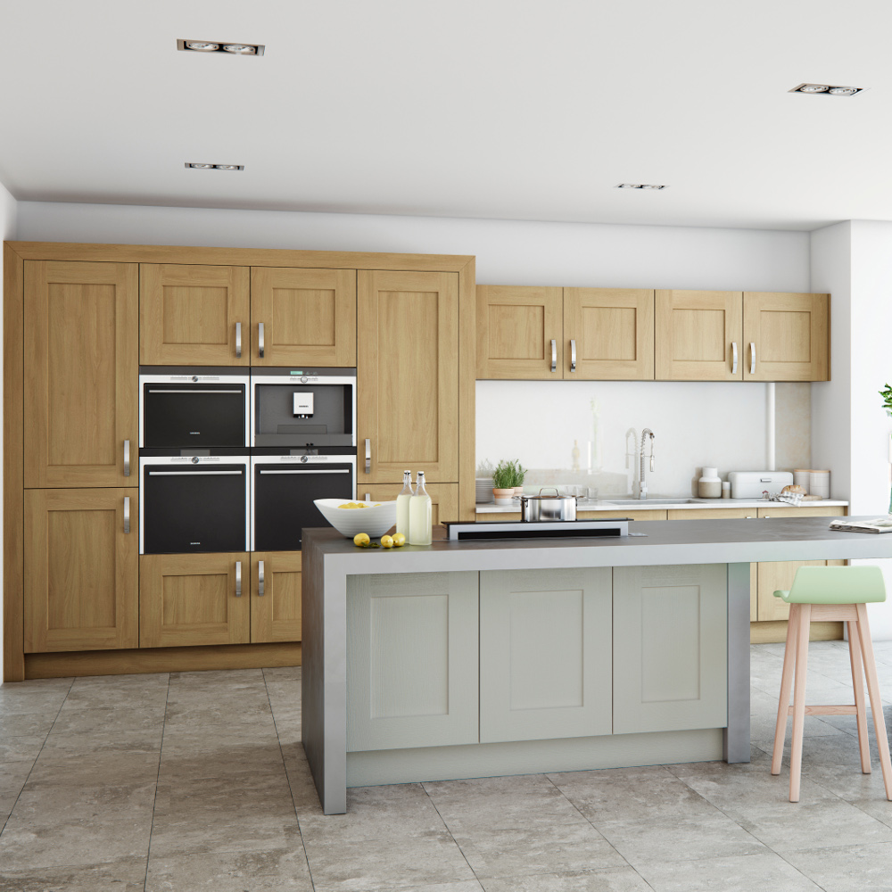 Clonmel oak and stone kitchens direct ni for Kitchens direct