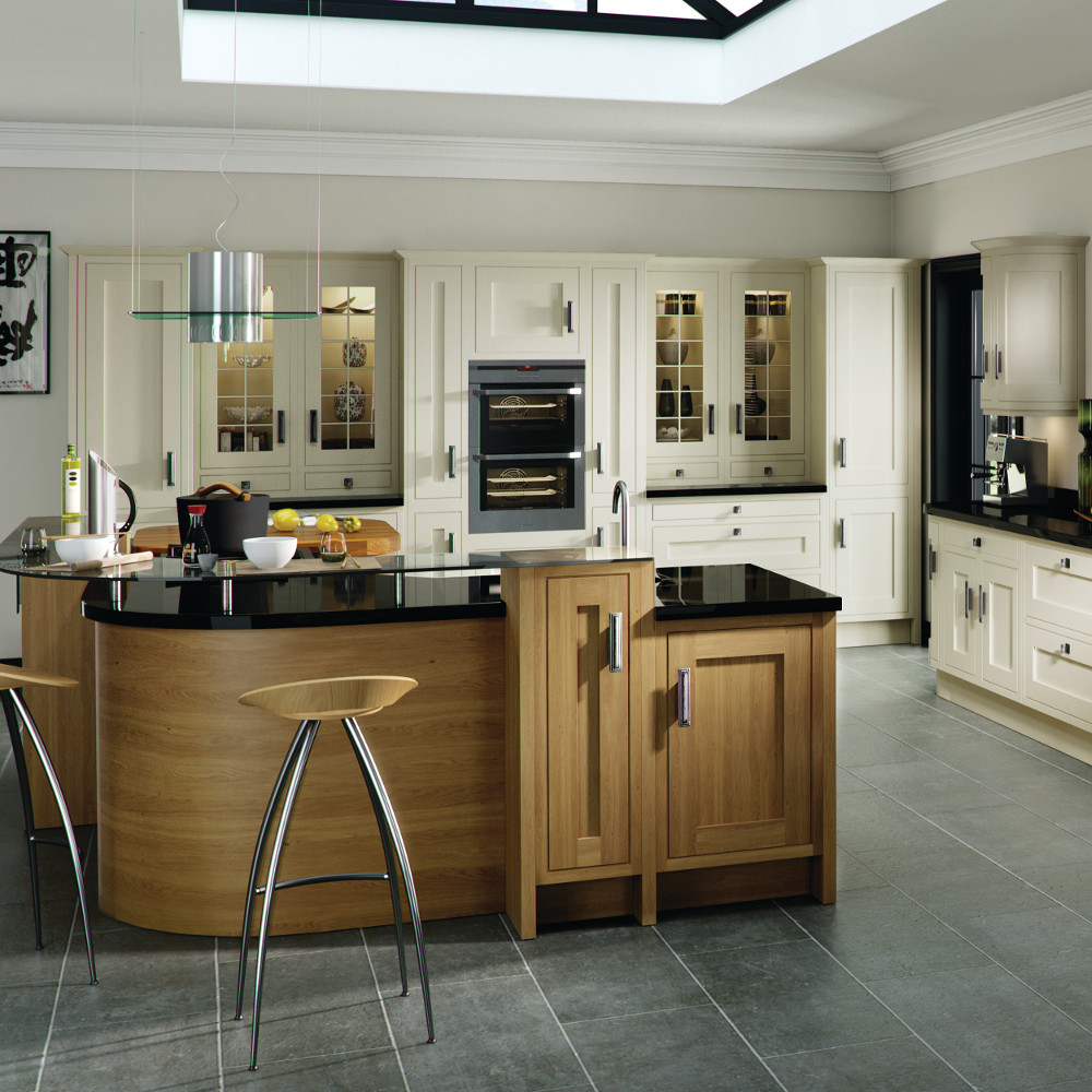 home kitchens traditional kitchens iona inframe in oak and painted