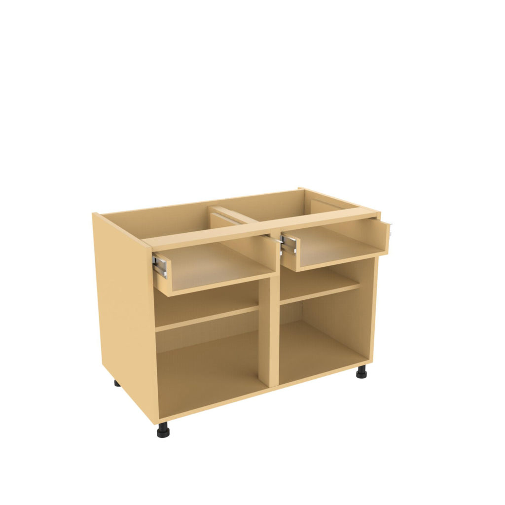 Double drawer line base units kitchens direct ni for Kitchen base units with drawers