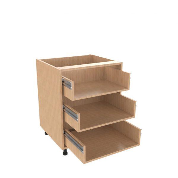 Drawer type d 3 drawer unit kitchens direct ni for 600 kitchen drawer unit