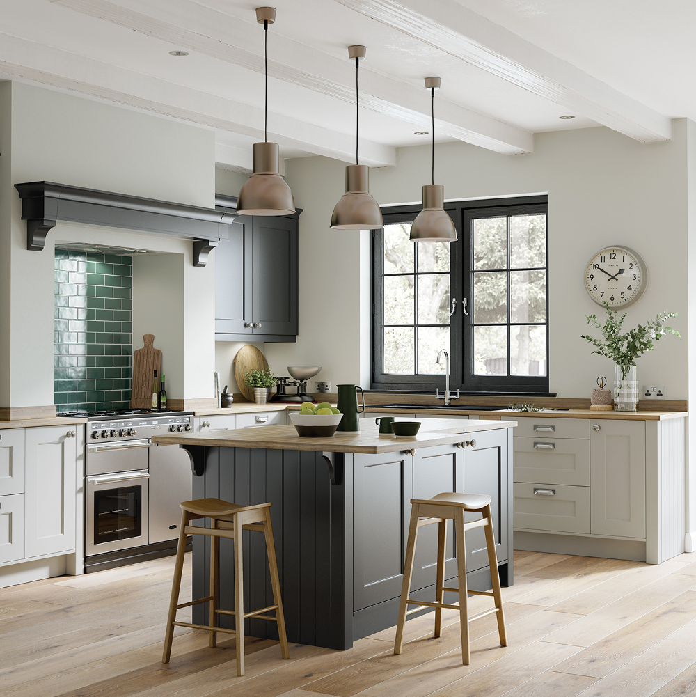 Florence in graphite light grey kitchens direct ni for Kitchens direct