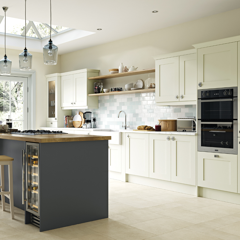 Georgia porcelain and graphite kitchens direct ni for Traditional kitchens ireland